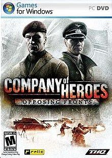 company  heroes opposing fronts wikipedia