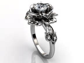 flower wedding rings platinum unique floral from jewelice on etsy