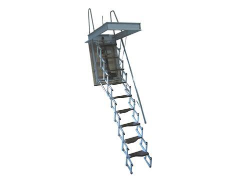 escalier escamotable motoris 233 en acier starlux elegant by