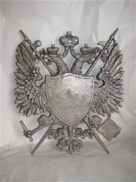 medieval gothic eagles vintage cast metal crest coat