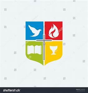 Church Logo. Dove, Cross, Open Bible, Flame, Holy Spirit ...