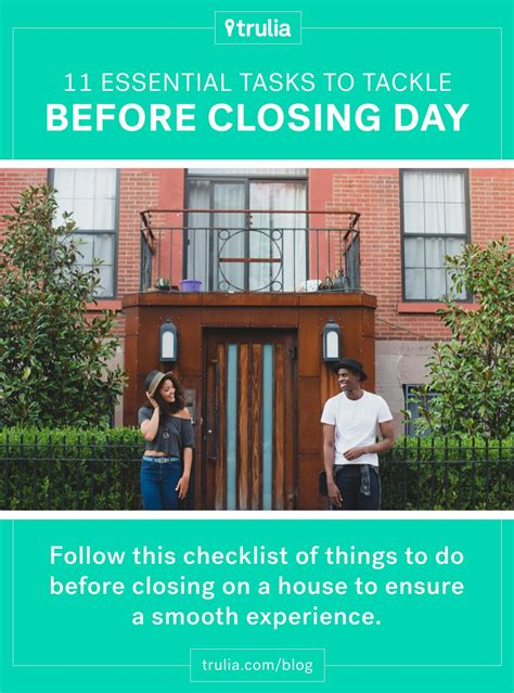 101 Things I About Your House by 11 Things To Do Before Closing On A House Real Estate