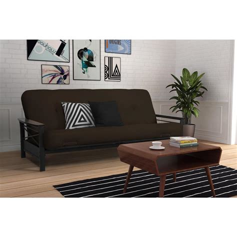 sofa springs home depot homesullivan black microfiber tufted mini sofa bed lounger