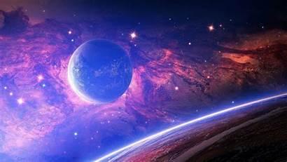 Space Planet Purple Wallpapers Backgrounds Stars Desktop