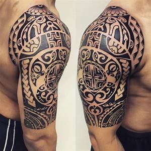 24+ Tribal Shoulder Tattoo Designs, Ideas   Design Trends