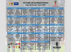 Calendario Eliminatorias Sudamericanas Mundial Rusia 2018
