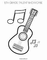 Coloring 5th Grade Guitar Talent Showcase Favorites Login Music Notes sketch template