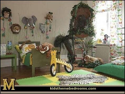 jungle rainforest theme bedroom decorating ideas