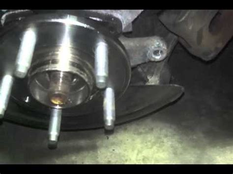 ford freestyle hub bearing removal youtube