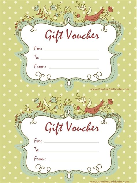 gift voucher template  printable gift certificates
