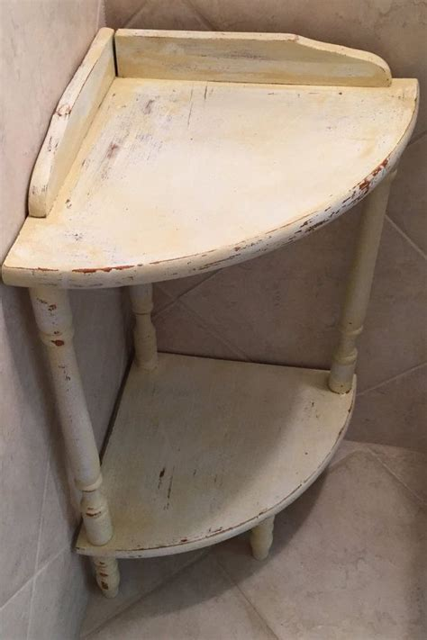 Small Corner Table 2 Tier Corner Shelf Shabby but Chic