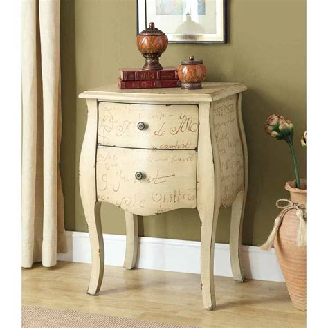 Black Nightstand With Drawers by Bombay Vintage French Antique White 2 Drawer Chest