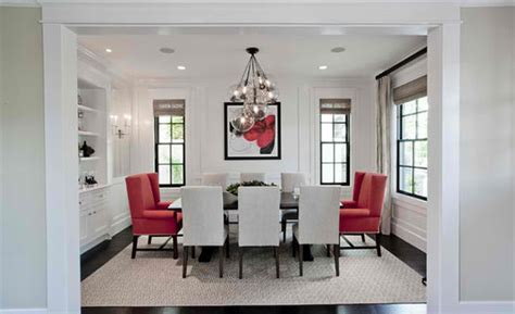 Dining Rooms In Red, Black And White Colors