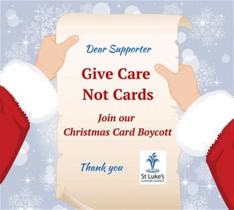cards of concern during christmas give care not cards this year st luke s cheshire hospicest luke s cheshire hospice