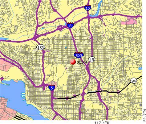 offenders san diego map 92104 zip code san diego california profile homes