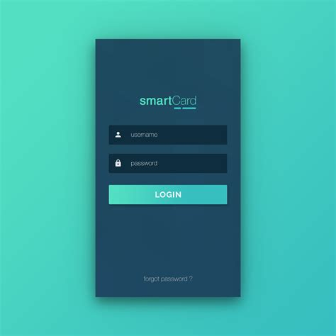 Flat Login Form Design Vector