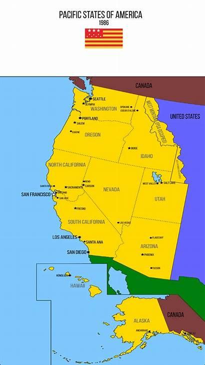 Pacific States America V2 1986 Imaginarymaps