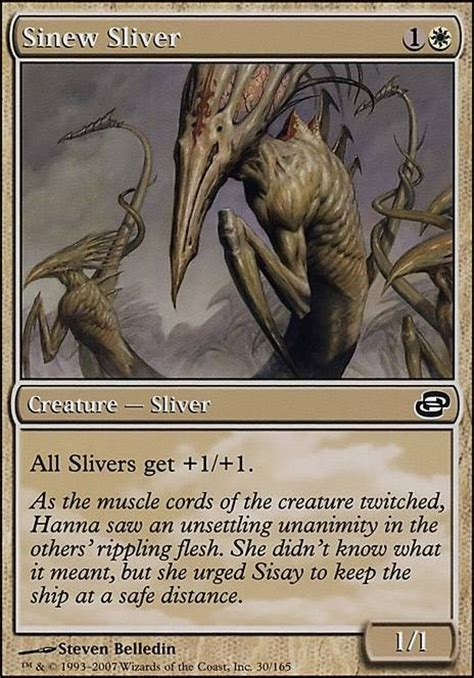 magic the gathering sliver deck legacy sinew sliver plc mtg card