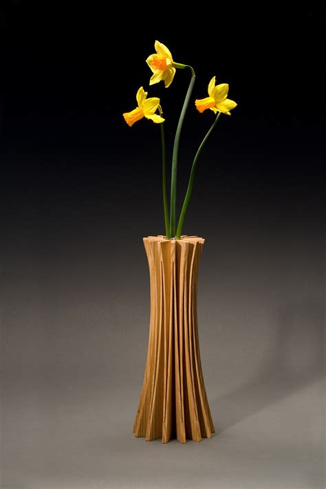 bamboo design furniture solid wood handcrafted vases bookends seth rolland