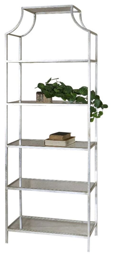 Silver Etagere by Aurelie Silver Etagere 24514 Contemporary Bookcases
