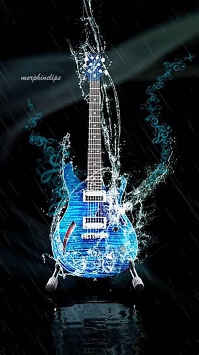 Guitar Animated Cool Fantasy Sound Musical Guitars