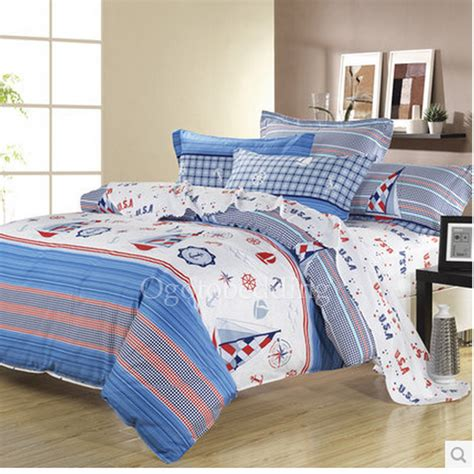 cheap blue nautical cool queen size comforter sets for