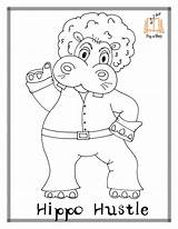 Coloring Pages Disco Colouring Hula Hippo Template Getcolorings sketch template