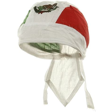 mexican flag doo rag mexico green white  red head wrap