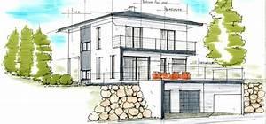 Einfamilienhaus Hanglage Planen : plan haus walmdach modern 778 364 pixel ~ Lizthompson.info Haus und Dekorationen