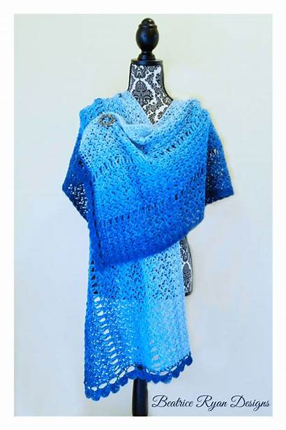 Crochet Shawl Winter Walk Pattern Shawls Ravelry