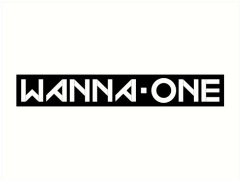 quot produce 101 wanna one 황 미현 ft group logo quot art prints by wanna one shop redbubble