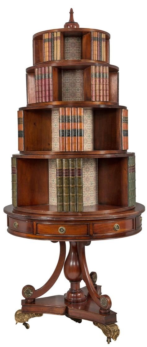Rare Circa 1880s Round English Bookcase For Sale At 1stdibs