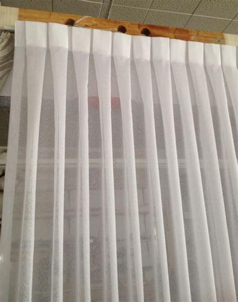 Sheer Pinch Pleated Drapes - box pleated sheer drape cortinas curtains pinch pleat