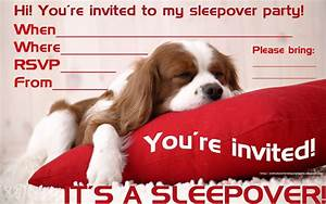 Birthday Invitation Design Dog Sleep Over Invitation Templates