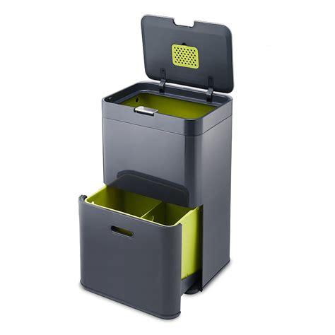 poubelle cuisine totem 48 poubelle à tri sélectif anthracite 30020 j achat vente poubelle de cuisine sur