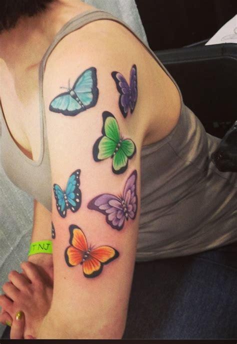 butterfly  sleeve    tattoos pinterest