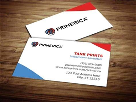 primerica business card design