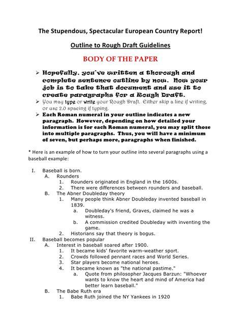 outline  rough draft