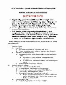 Outline to rough draft for Rough draft outline template