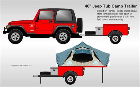jeep pop up tent trailer bolt together fiberglass jeep tub trailer kit expedition