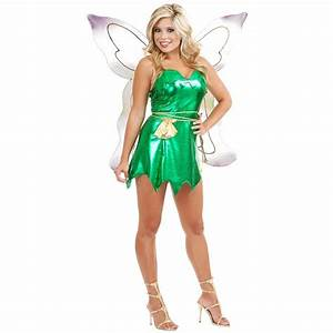 Tinker Bell Costume Adult Tinkerbell Fairy Pixie Peter Pan ...