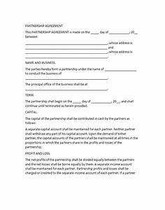 Profit sharing agreement template sample forms of for Profit share agreement template
