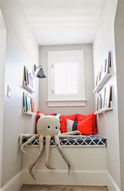 create a colorful children s reading nook in a small