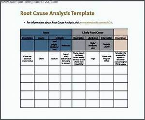 Itil root cause analysis template sample templates for Itil root cause analysis template