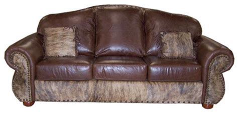 Rustic Cowhide Sofas, Cowhide Couches