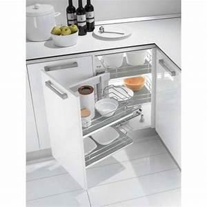 Meuble Angle Cuisine : ferrure d 39 angle dynamic croner pour meuble bas accessoires cuisines ~ Teatrodelosmanantiales.com Idées de Décoration