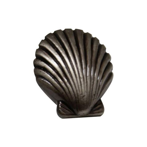 Seashell Cabinet Knobs And Pulls by Whitehaus Collection 1 3 8 In Pewter Seashell Cabinet
