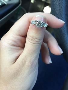 three stone engagement rings what wedding band did you With three stone engagement ring with wedding band
