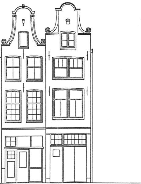 Kleurplaat Huisjes by Kleurplaat Gevel Huisjes Het Huis Sinterklaas