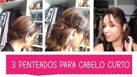 penteados rapidos  faceis  cabelos curtos tutorial blahblog youtube